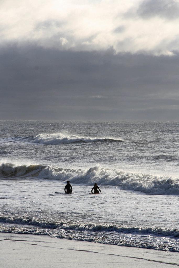 Surfer am Strand von Boscombe