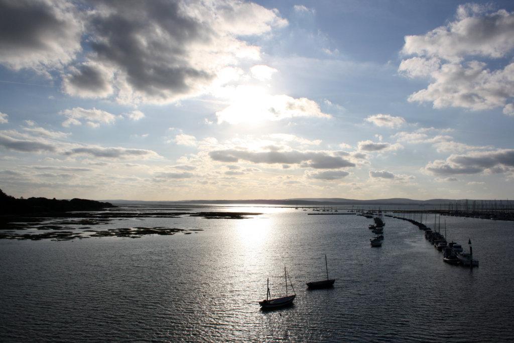 Anfahrt mit der Fähre auf Yarmouth, Isle of Wight